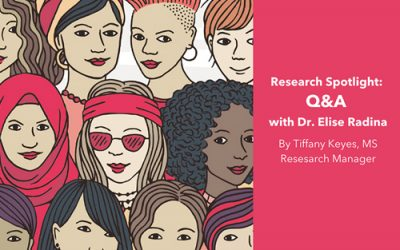 Research Spotlight: Q&A With Dr. Elise Radina by Tiffany Keyes, M.S., Research Manager
